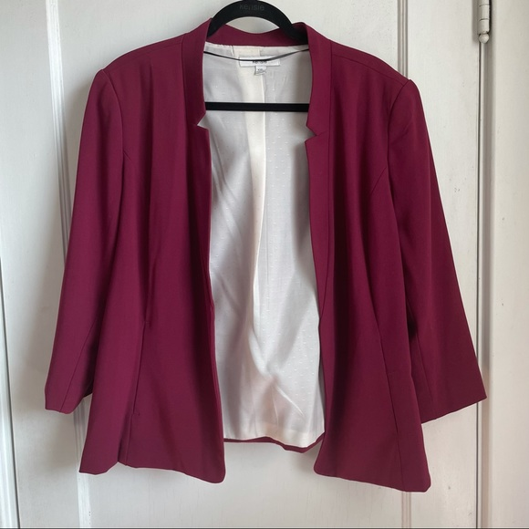Kensie Open-front 3/4 sleeve blazer xxl
